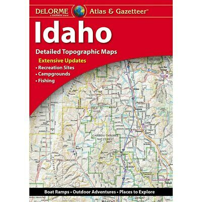 Delorme Idaho ID Atlas & Gazetteer Map Newest Edition Topographic / Road Maps