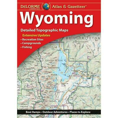 Delorme Wyoming WY Atlas & Gazetteer Map Newest Edition Topo / Road Maps