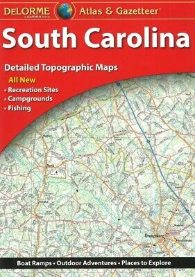 Delorme South Carolina SC Atlas & Gazetteer Map Newest Edition Topo / Road Maps