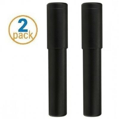 2 Pack Black 54 Ring Gauge Adjustable Size Cigar Case - Crash Proof Cigar Tube