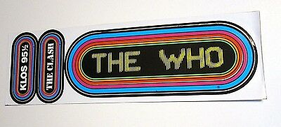 THE WHO Vintage KLOS Orignal Bumper Sticker Decal The CLASH