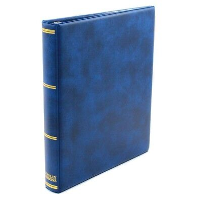 Stanley Gibbons Universal 22-Ring Album with 40 White Quadrille Pages R3861 Blue