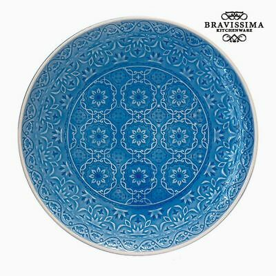 Plato Llano Porcelana Azul by Bravissima Kitchen