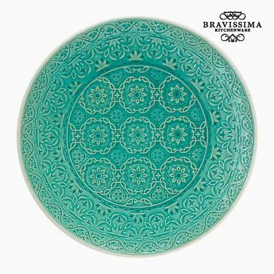Plato Llano Porcelana Verde by Bravissima Kitchen