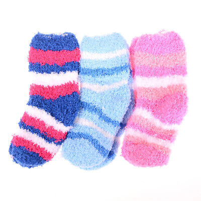 Winter Warm Baby Striped Towel Socks Warm socks Kids Towel Thick Socks ESCA*