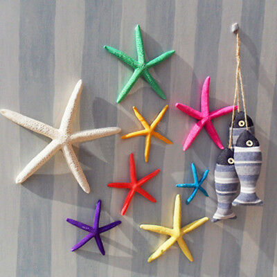 12 Pcs White Finger Starfish 8-10cm Sea Beach Wedding Coastal Decor Craft Latest