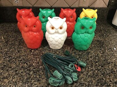 Vintage Owl Party Lites String Lights Patio Rv Camping