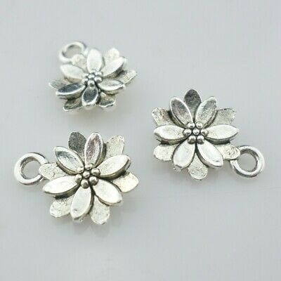 Tibetan Silver/Bronze Flowers Shape Charms Pendants Beads  Crafts Jewelry Making
