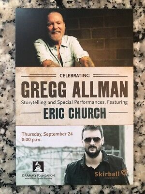 GREGG ALMAN ERIC CHURCH handbill june 2 2015
