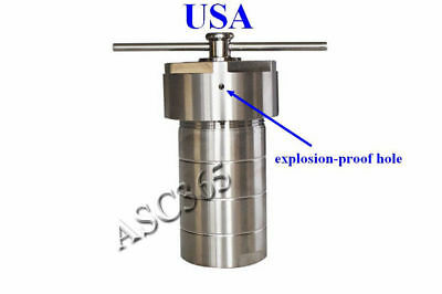 200mL Teflon Lined Hydrothermal Synthesis Autoclave Reactor Lab Equipment 170353