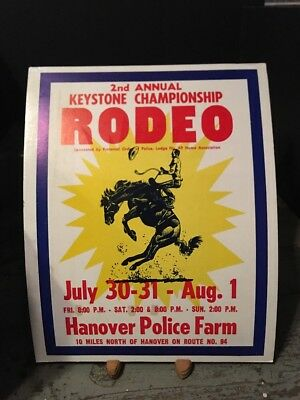 Vintage Hanover, Pa 2nd Annual Keystone Championship Police Rodeo Poster