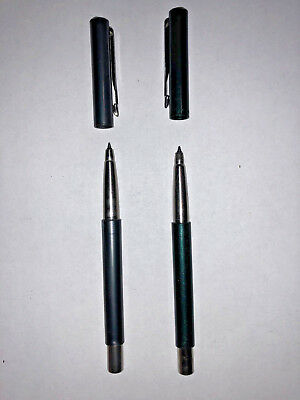 (2) Parker Vector Gel Ink Refillable Roller Ball Pens Gray & Green