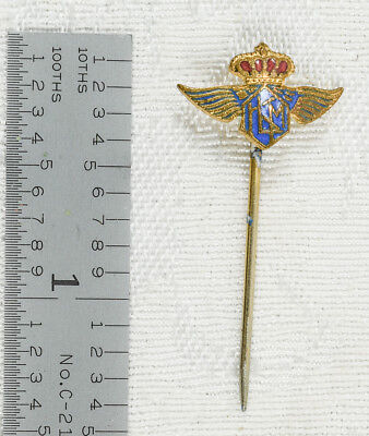 Genuine Antique Klm Royal Dutch Airlines Stickpin