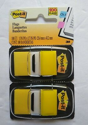 3M Post It Flags Standard Page Flags Dispenser Yellow 100 Flags