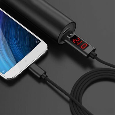 Fast Charging Charger cable 8 Pin Type-C USB Output Voltage Current LED Display