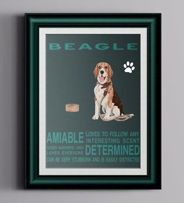 BEAGLE DOG character Quote Art Print 8 x 10 image modern home decor