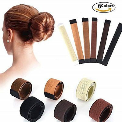 Women Magic Hair Bun Snap Styling Donut DIY Former French Twist Band Maker Tool