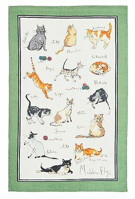 "Ulster Weavers, ""Cats"" by Madeleine Floyd, Pure linen printed tea towel"