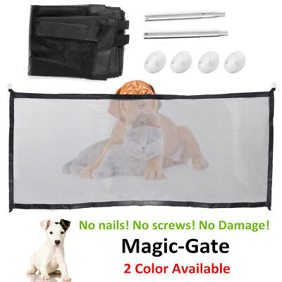 Mesh Magic Gate Pet Dog Barrier Safe Guard&Install Anywhere Safety Enclosure New