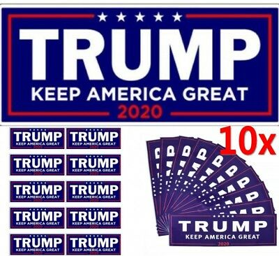 10x Donald Trump Keep Make America Great 2020 President Decal Bumper Sticker