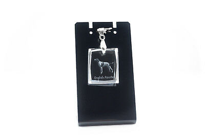 English Pointer,Dog Crystal Necklace, Pendant, High Quality, Crystal Animals USA