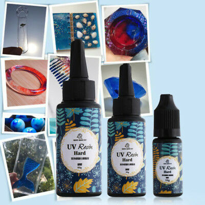 10-200g Clear UV Resin Ultraviolet Cured Craft Transparent DIY Non-toxic Glue I1