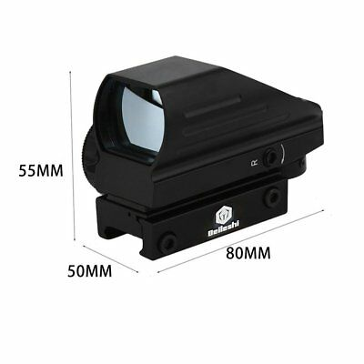 Tactical Red Green Dot Holographic Sight 4 Reticle Reflex for Outdoor FX