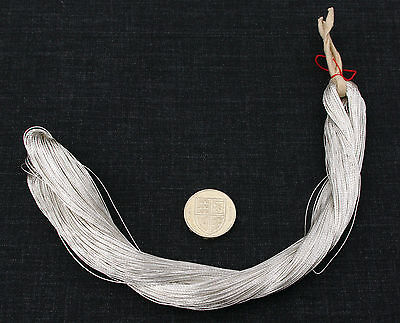 JAPANESE REAL SILVER THICK THREAD 0.5mm 100 METRE SKEIN, EMBROIDERY GOLDWORK