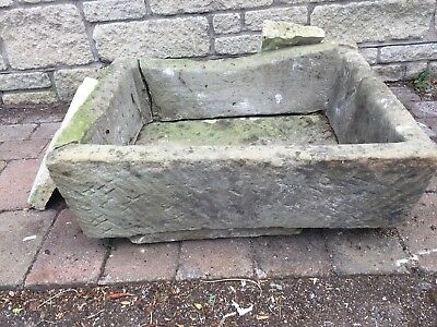 Antique stone trough Garden planter