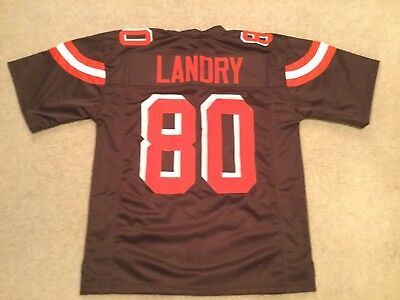 448466332 UNSIGNED CUSTOM Sewn Stitched Jarvis Landry Brown Jersey - M, L, XL, 2XL