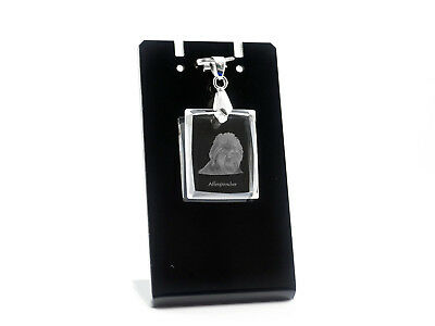 Affenpinscher, Dog Crystal Necklace, Pendant, High Quality, Crystal Animals USA