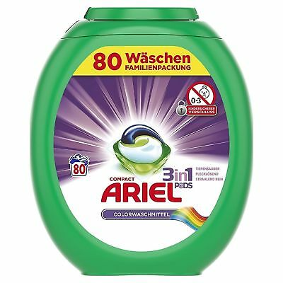 Ariel 3 in 1 Pods Colorwaschmittel Familienpackung 80WL 3in1