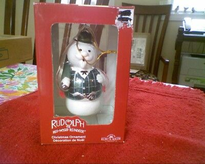 SAM THE SNOWMAN Rudolph the Red Nosed Reindeer Christmas Ornament NEW