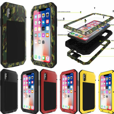 Waterproof Shockproof Metal Aluminum Gorilla Case For iPhone Xs Max Xr X 8 7 SE