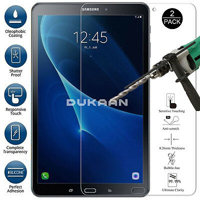 """2 PACK TEMPERED GLASS Screen Protector For Samsung Galaxy Tab A6 7"""" SM-T285/T280"""