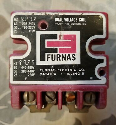 Furnas Dual Voltage Coil CAT# D2936-32 Used