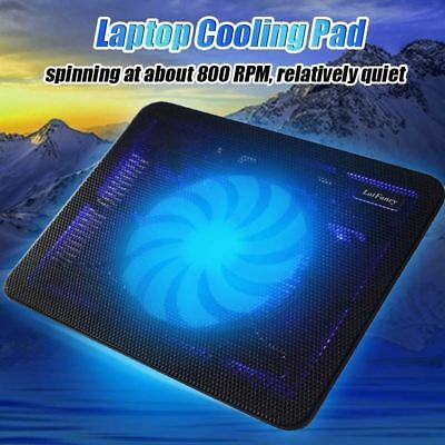 Traioy USB Laptop Cooler Notebook Cooler 6 Cooling Fans Height Wind Speed Adjustable Blue LED Light for 12-17 inch Gaming Laptop