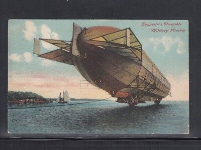 Postcard Zeppelin's Dirigible Military Airship Used 1910