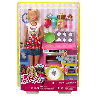 Barbie FHP57 CAREERS Baking Feature Doll and Playset Colourful Accessories