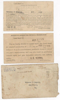 1918-1919,ww I Soldier's Notices,induction,pay Book,discharge Papers