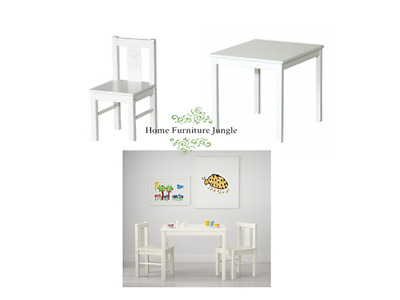 New Ikea Kritter Childrens Chair Table White  Indoor Outdoor Free Delivery Cheap