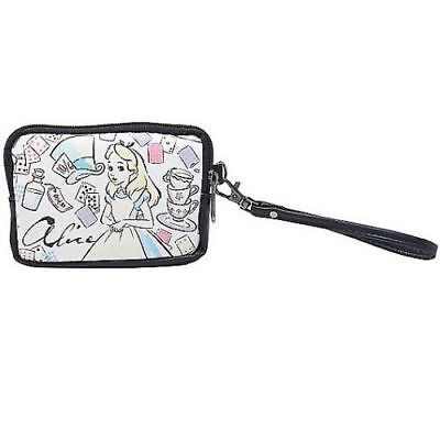 Disney Alice In Wonderland Faux Leather Wristlet Double Zip Coin Purse loungefly