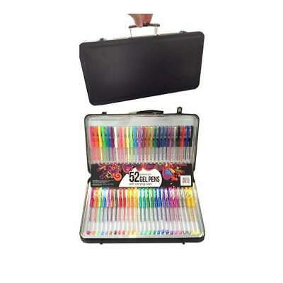 NEW Poppy Crafts 52 Gel Pen Set With Carry Case