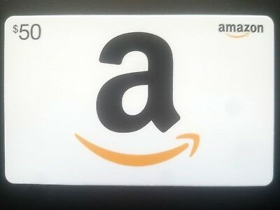 $50 AMAZON GIFT Card, Instant email delivery if wanted