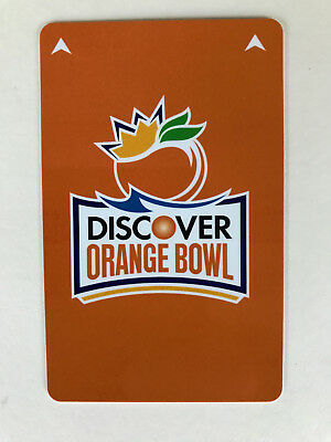 "Orange Bowl Room Key Card x 5, Hotel Motel - New Unused ""5 Cards"" - Programable"