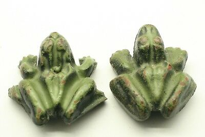 Cast Iron Frog Paperweights – Vintage – Novelty Naughty Male And Female