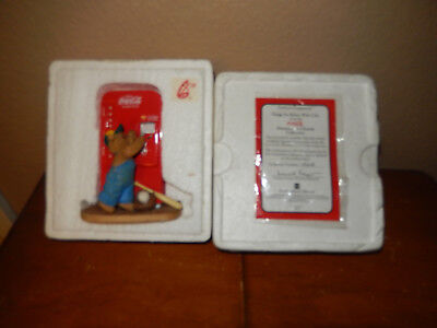 """Coca-Cola Hamilton Collection """"Things go Better with Coke"""" Teddy Bear figurine"""