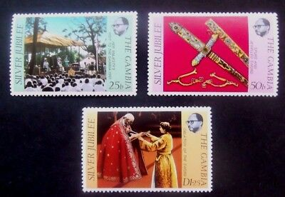 The Gambia-1977-Silver Jubilee set-MNH