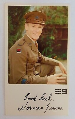 Norman Yemm Television Fan Card - The Sullivans - Channel 9