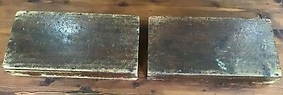 Old Antique Wooden / Timber Boxes Display  560 x 280 x 115mm